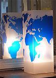 Lampe Monde Bleu. <BR><I>Lamp Monde Blue.</I>
