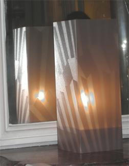 Lampe Art Art Gris. <BR><I>Lamp Art Art Grey.</I>