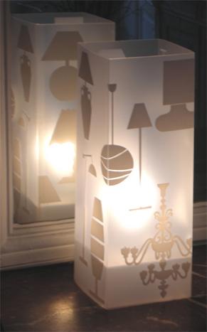 Lampe / Lampe Blanc. <BR><I>Lamp / Lamp White.</I>
