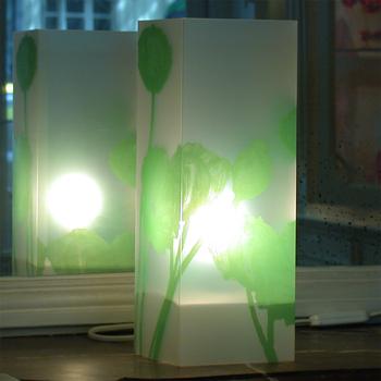 Lampe Pavots Vert. <BR><I>Lamp Pavots Green.</I>