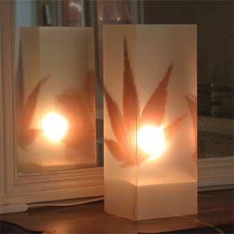 Lampe Automne Sepia. <BR><I>Lamp Automne Sepia.</I>
