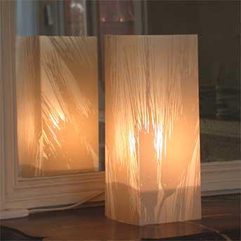 Lampe Blé Gris clair. <BR><I>Lamp Ble Pale grey.</I>