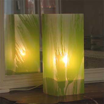 Lampe Blé Vert. <BR><I>Lamp Ble Green.</I>