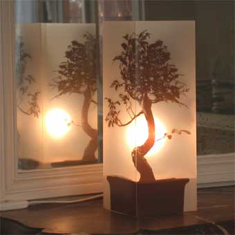 Lampe Bonsai Sepia. <BR><I>Lamp Bonsai Sepia.</I>