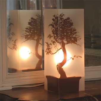 Lampe Bonsai Sepia. <BR><I>Lamp Bonsai Sepia.</I>