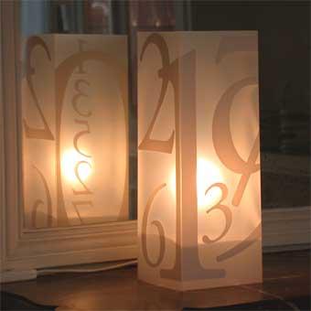 Lampe Numero Blanc. <BR><I>Lamp Numero White.</I>